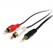 StarTech 3,5mm jack naar 2x Tulp kabel M/M 0.3m