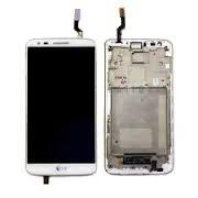 Дисплей + Тъч скрийн + рамка за LG Optimus G2 Бял
