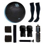 Combo of Manchestor City Black Football (Size-5) & Kit of 5 Other items