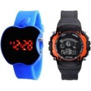 Lucky Choice new styles apple shape and sports combo watches for kids stylish button good gift Watch - For Boys & Girls