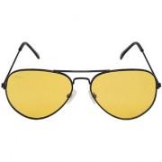 Criba Yellow UV Protection Aviator Unisex Sunglass