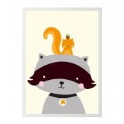 Poster -Raccoon & co.