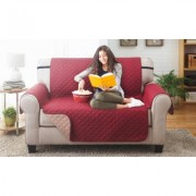 Odash Reversible Furniture Protector for Chair, Recliner, Loveseat, or Sofa Wine/Mocha Love Seat & Love Seat Red
