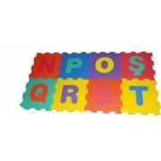Covor puzzle din spuma litere 8 piese 31.5x31.5 cm
