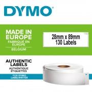 Etichete termice DYMO LabelWriter adrese permanente 28mmx89mm hartie alba 1 rola 130 etichete rola 99010R S0722370 1983173