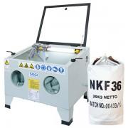 SOGI Sabbiatrice da banco SOGI S-56 con abrasivo corindone GRA-36 o GRA-80 oppure microsfere di vetro
