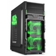 Sharkoon VG5-W Midi Tower PC Gaming Case Green