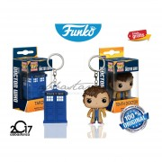 Set Llaveros Tardis Y Tenth Doctor Funko Pop Serie Dr Who