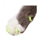 Purrdy Paws Soft Cat Nail Caps, 20 count, X-Small, Ultra Glow in the Dark