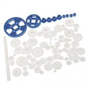 Anbau 69 Pieces/Set Assorted Plastic Gears Worm Kits for DIY Robots RC Car Toys Models Parts