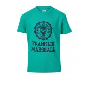 FRANKLIN AND MARSHALL Logo Tee Bright Gr