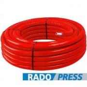 Radopress 20x2mm elõszigetelt PEX-AL-PEX ötrétegû csõ piros