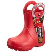 Crocs Boy's Handle It Rain Boot Disney McQueen PS Red Rubber Boots - C8