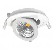 LED szpot , mélysugárzó , 12 W , süllyesztett , állítható , kerek , hideg fehér