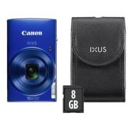 Aparat Foto Digital Canon IXUS 190 Essential Kit, 20 MP, Filmare HD, Zoom optic 10x (Albastru)