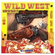 Coffret 2 Pistolets Cow Boy Avec Étuis (8coups)