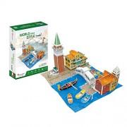 Cubicfun World Architectural House Building Model Kits 3D Puzzle,Italy,W3185H 131 Pieces