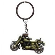 Bullet Bike Metal Keychain Keyring Key Key Chain - Green Metallic