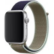 Wotchi Provlékací sportovní řemínek pro Apple Watch - Khaki 38/40 mm
