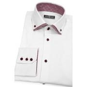 Bílá košile kombinovaná s červeným Avantgard 130-0113-42/182
