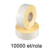 Role de etichete semilucioase 30x15mm, 10.000 et./rola