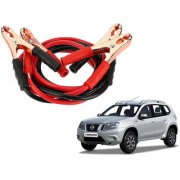 Auto Addict Premium Quality Car 500 Amp Heavy Duty Copper Core Tangle Battery Booster Cable 7.5 Ft For Nissan Terrano