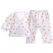 EY 0-3 Meses Bebé Recién Nacido Cómodo Traje Ropa Ropa Interior De Algodón Puro Suave-Rosa