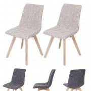2x Esszimmerstuhl Calgary, Stuhl Lehnstuhl, Retro 50er Jahre Design, Stoff/Textil ~ Variantenangebot