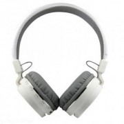 Mettle SH12 Bluetooth headphone with SD Card Slot/ with music and calling controls Headset with Mic - White