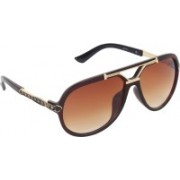 Zyaden Rectangular Sunglasses(Brown)