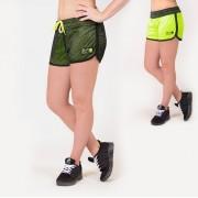 Gorilla Wear Madison Reversible Shorts - Zwart/Neon Groen - XS