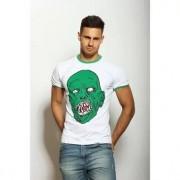 Epatage Эпатажная футболка мужская с принтом белого цвета Epatag RT020791m-EP