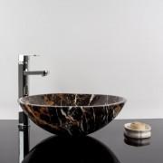 Chiuveta baie marmura Portoro Gold, 42 x 14 cm