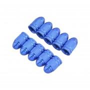 2 Piezas De Bicicleta De Aleacion De Aluminio Tapas De Valvula De Neumatico (azul)