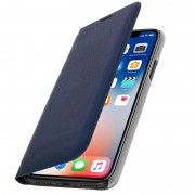 Avizar Flip Book Cover Funda Cartera Azul Oscuro para iPhone X