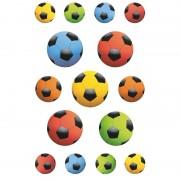 Geen 45x Gekleurde voetbal stickertjes voor kinderen