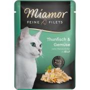 Miamor Feine Filets in Jelly tuňák a zelenina - kapsička 100 g