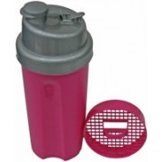 Adraxx Gym Sipper And Shaker 600 ml Shaker, Sipper(Pack of 2, Silver)