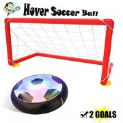 Kids Toys Hover Ball Set with 2 Goals, Gloween Air Power Soccer Disc for Indoor and Outdoor Activity, Kids Toys,Boy and Girl Amazing Hover Ball with LED Lights, Mini Screwdriver