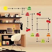 ufengke Cartoon Pac-Man Games Wall Decals, Children's Room Nursery Removable Wall Stickers Murals