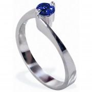 Anillo De Compromiso Solitario Diamond Desing Zafiro Natural 40 Puntos Con Montadura De Oro Blanco De 14 Kilates
