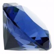 Geen Blauwe nep diamant 5 cm van glas
