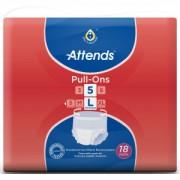 Attends GmbH Attends Pull-Ons 5, Inkontinenzhosen für Erwachsene, large, HBU: 100 - 140 cm, 1 Packung = 18 Stück
