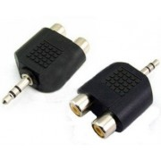Adapter audio 3.5mm - 2xRCA crni