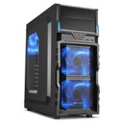 Sharkoon VG5-W Midi Tower PC Gaming Case Blue