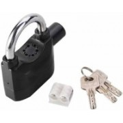 FStyler Siren Alarm Lock Anti-Theft Security System Door Motor Bike Bicycle Padlock - Black Safety Lock(Black)