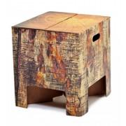 Dutch Design Brand kartonnen krukje - Boomstam - Tree trunk