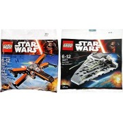 Lego Star Wars Star Destroyer & Poe's X- Wing Fighter Starship set - Polybag 30277 + 30278 edition Building Set