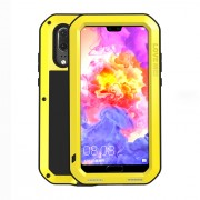 LOVE MEI Shockproof Dropproof Dustproof Shell Cover Case for Huawei P20 - Yellow
