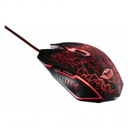 Trust Gxt 105 Gaming Mouse, 600/2400 Dpi, 1.8M, Nero/Rosso